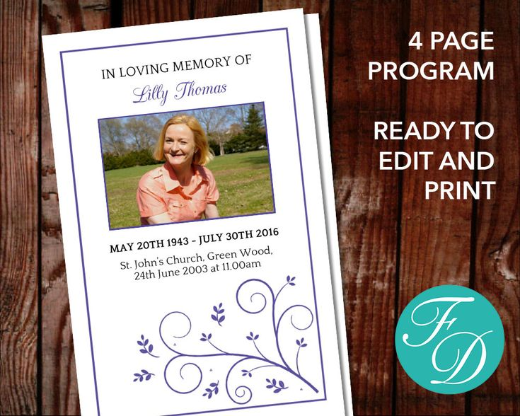 51 best Pink Funeral Program Templates images on Pinterest - funeral flyer template