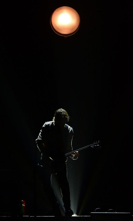 . Keith Urban performs before a sold out crowd at Staples Center Thursday night October 20, 2016. (Will Lester-SCNG/Inland Valley Daily Bulletin)