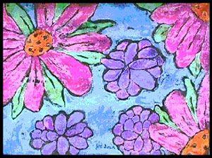 Paper Batik Flowers Lesson Plan Painting For Kids