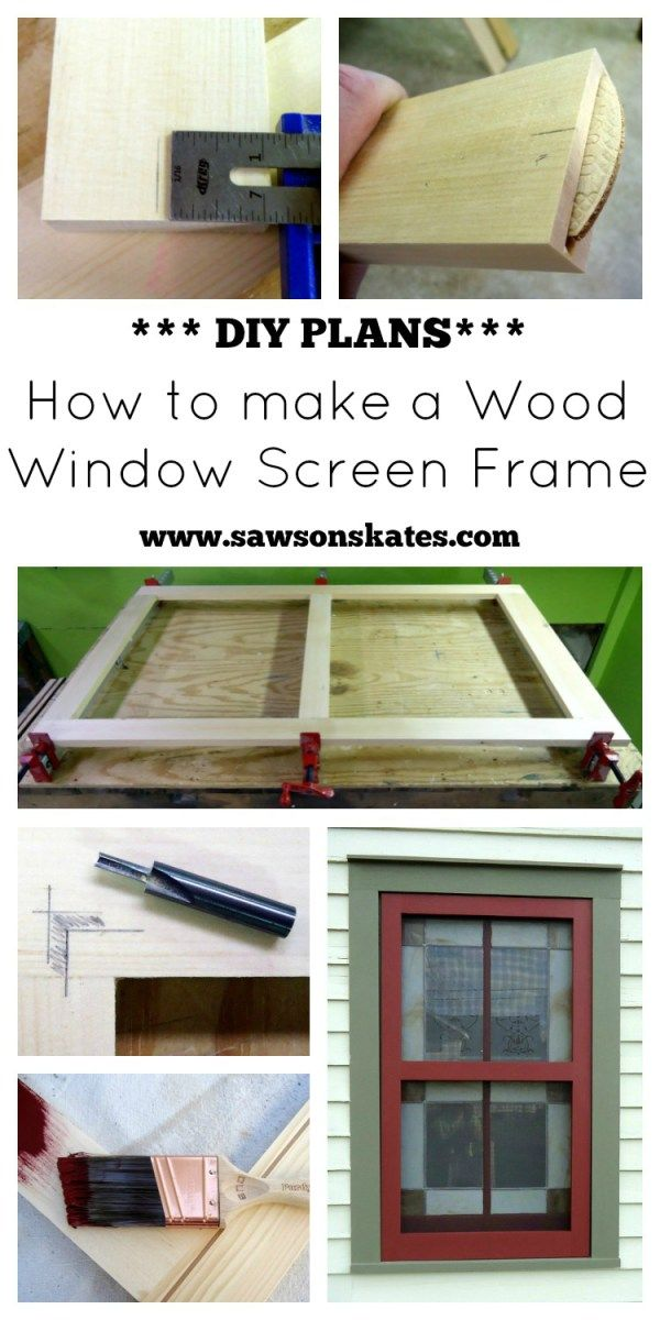 Diy Wood Window Screen Frame Best Of Skates Woodworking Projects