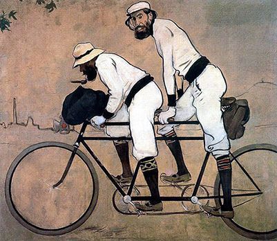 Painting by Ramon Casas i Carbo