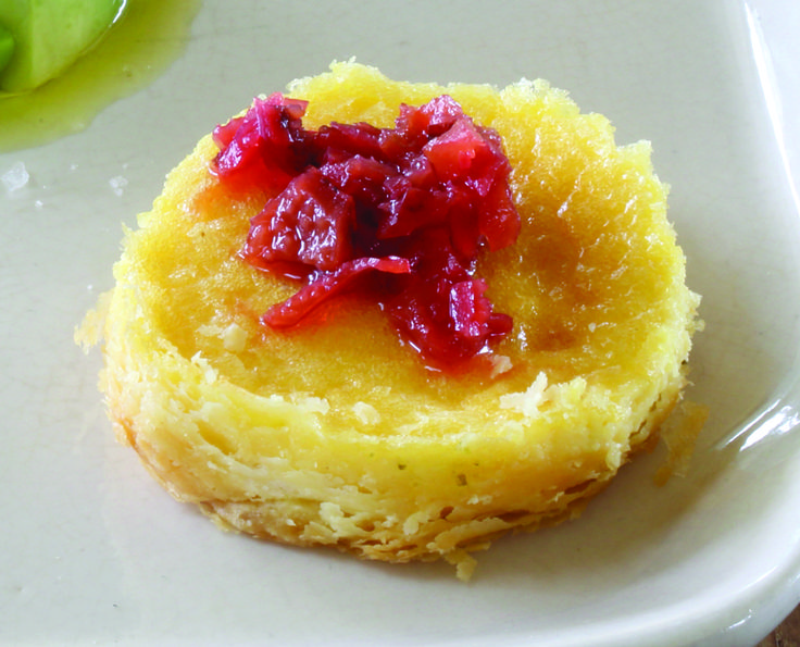 Parmesan Custard Tart with Quandong - Maggie Beer