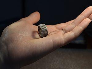 Кольцо из рога оленя | Ярмарка Мастеров - ручная работа, handmade