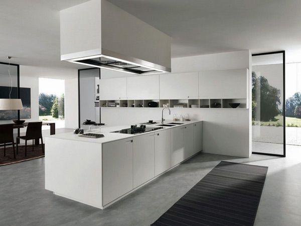 Arredo cucina moderna Parma – idee cucina componibile design contemporanea con isola credenza -