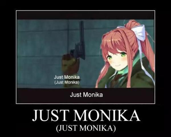 Just Monika Just Monika With Images Literature Club