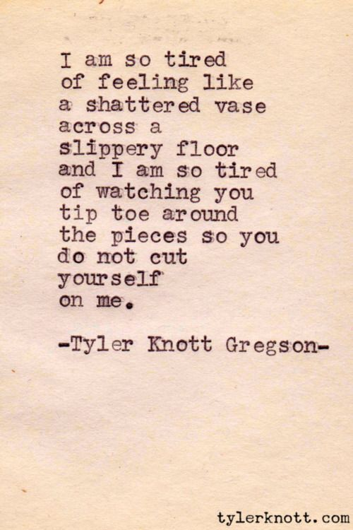 Oh my gosh. Perfect. Tyler Knott Gregson Typewriter Series.