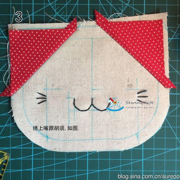 [Reservado] círculo <wbr> gato bonito tutorial bolsa artesanal