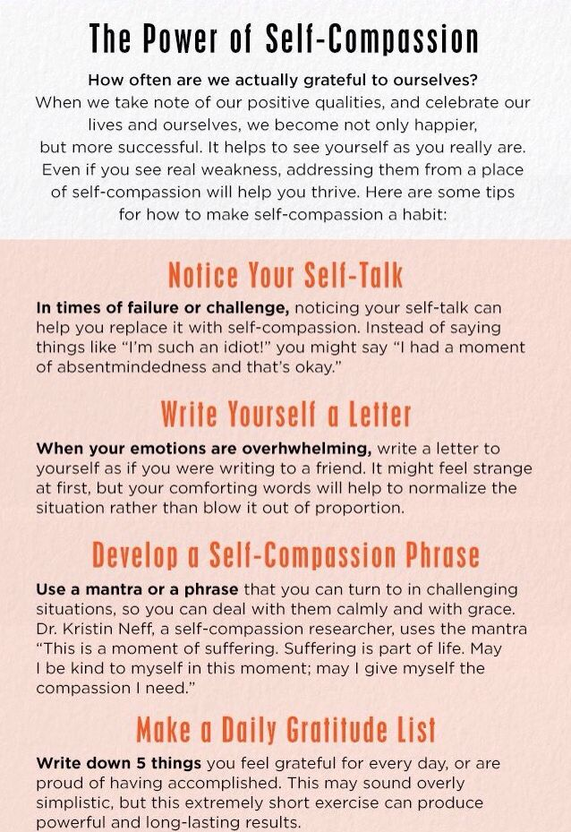 """""""The power of Self compassion."""" Routines, ideas, activities and worksheets to support your self-care. Tools that work well with motivation and inspirational quotes. For more great inspiration follow us at 1StrongWoman."""