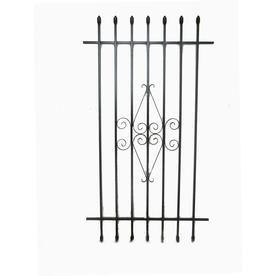 Grisham 30-in x 54-in Black Spear Point Window Security Bar