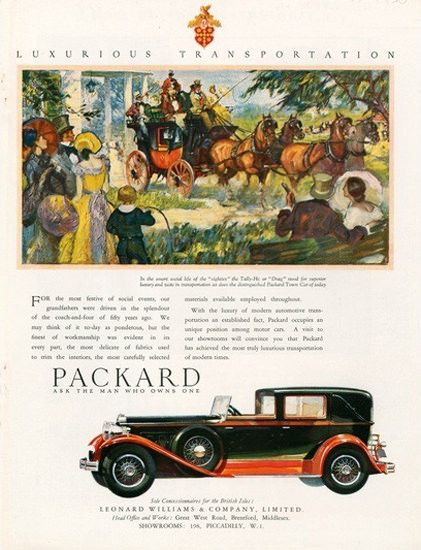 Packard Automobile Coach - Mad Men Art: The 1891-1970 Vintage Advertisement Art Collection