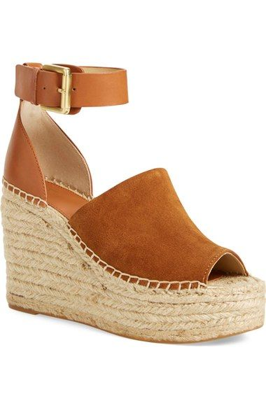 Marc Fisher LTD 'Adalyn' Espadrille Wedge Sandal (Women) available at #Nordstrom Size 10 in tan!