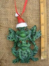 71 best Frog Ornaments images on Pinterest | Frogs, Christmas ...
