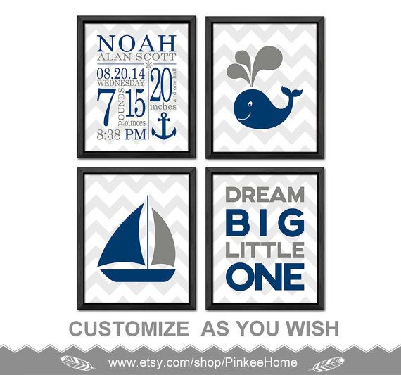 180 best baby birth wall art birts stats art images on pinterest nautical baby birth announcement nautical birth details print nautical baby room decor personalized baby boy gifts negle Gallery