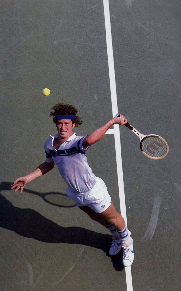 John McEnroe playing in the 1980 US Open.He won the