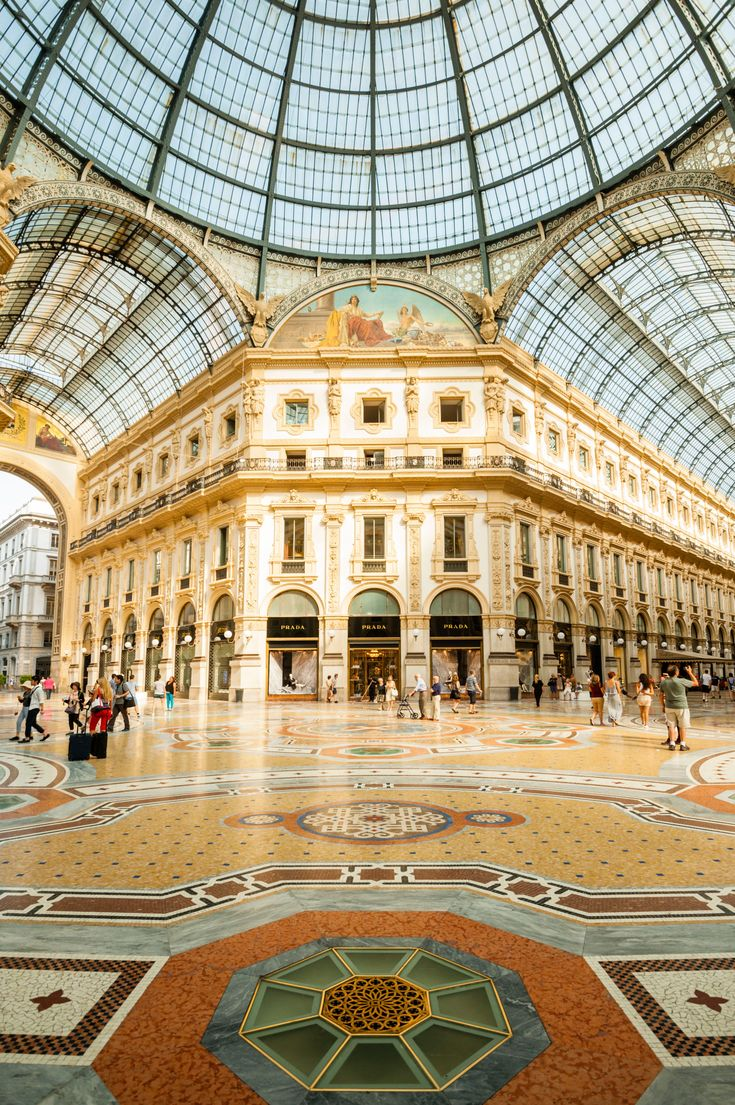 Galleria Vittorio Emanuele II in Milan, Italy. Photo by Justin Foulkes.