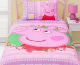 Peppa Pig Single Quilt Cover Set | Kids Character Clothing, Bedding and Accessories | Cooldudes Kids Australia