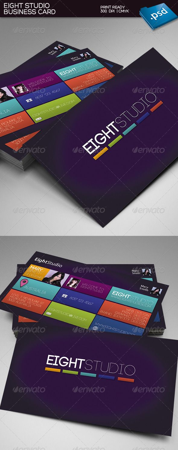 116 best business card images on pinterest business card design print templates eight studio business card graphicriver reheart Image collections