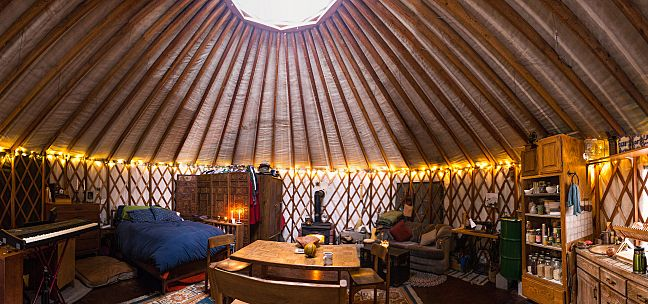 Yurt Life.  Americans buy a yurt for 5k for permanent living.