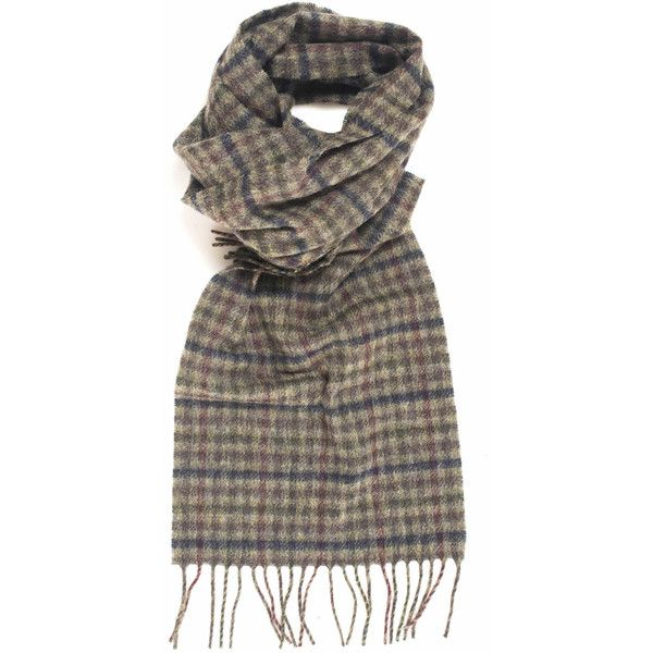 Barbour Scarf (290 BRL) ❤ liked on Polyvore featuring men's fashion, men's accessories, men's scarves, mens woolen scarves and mens wool scarves