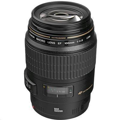 Canon EF 100mm f/2.8 Macro USM Lens - Optimized for Canon        Full-Frame DSLRs   -   (Aperture Range: f/2.8-32, 58mm Filter Thread Diameter)