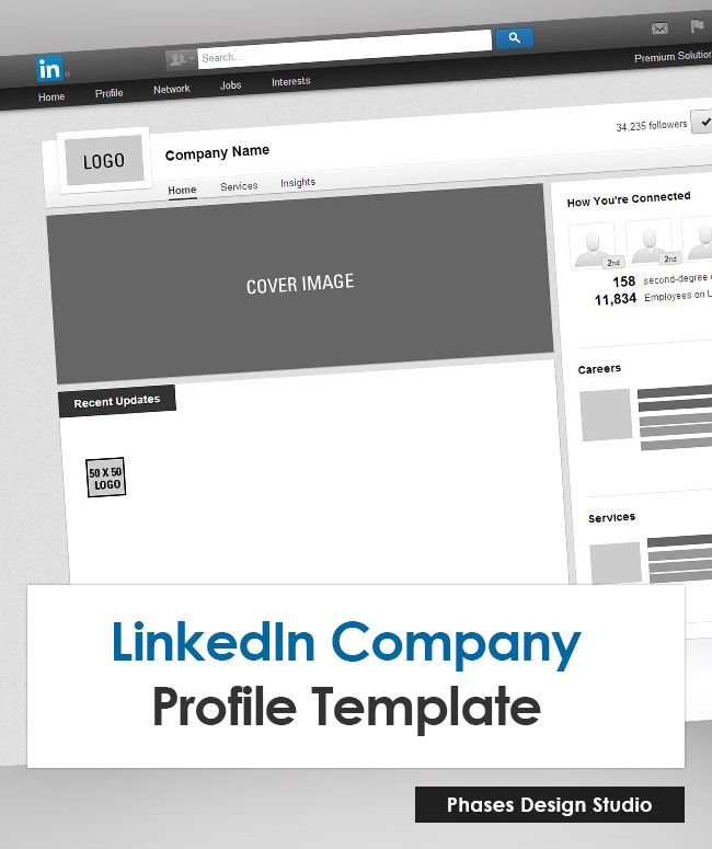 Our LinkedIn Company Profile Photoshop Template contains a layer - free business profile template