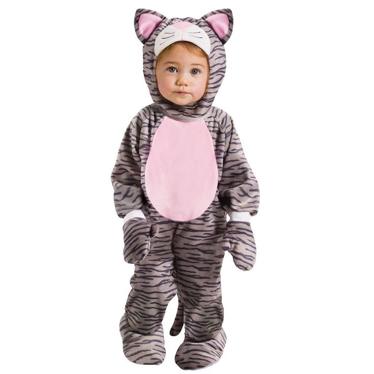 Hooded Kitten Costume - Baby, Infant Girl's, Size: 12-24MONTH, Pink