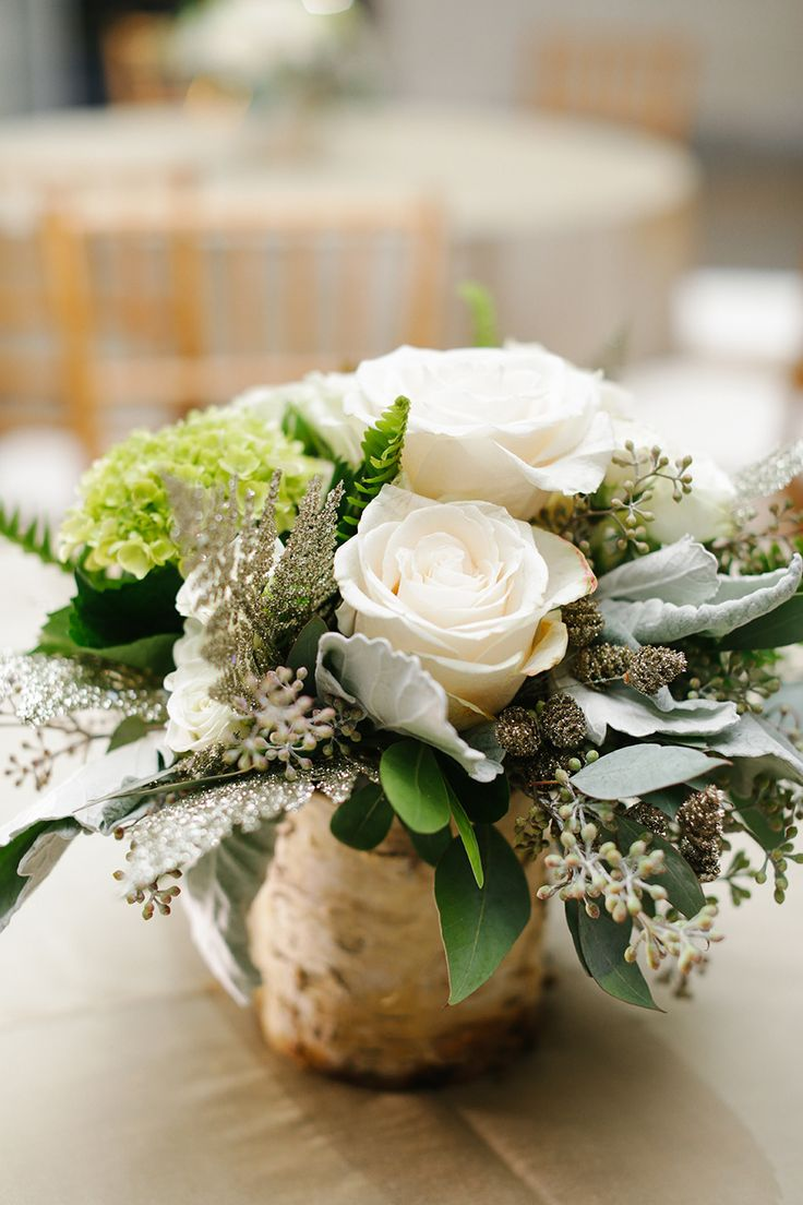 Rustic Centerpiece at an Elegant Reception   See the wedding on SMP: http://www.StyleMePretty.com/2014/01/29/elegant-wedding-at-new-york-historical-society/ Smitten Photography