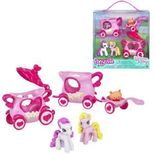 Hasbro My Little Pony Ponyville Tea Cup Parade  It s time for tea - pony style Place Cupcake and Strawberry Swirl ponies in the tea cup buggies Thei  http://www.comparestoreprices.co.uk/dolls/hasbro-my-little-pony-ponyville-tea-cup-parade.asp