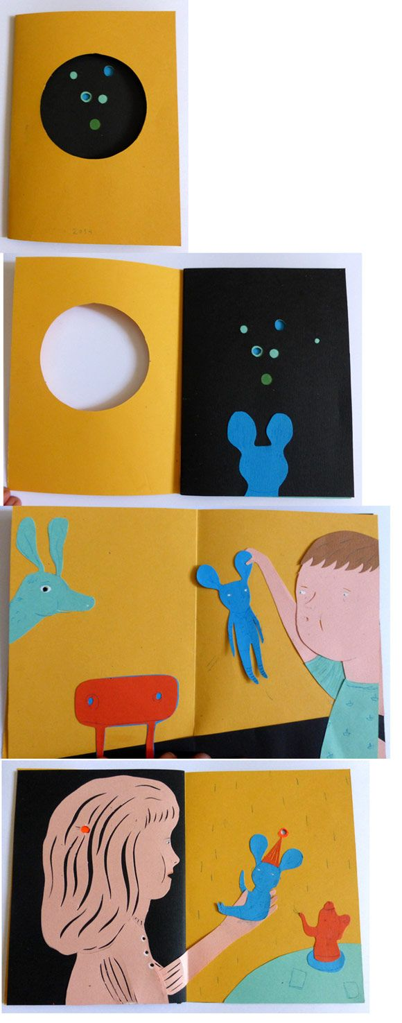 some pages of the book I created during Katsumi Komagata´s workshop in Valladolid this year.