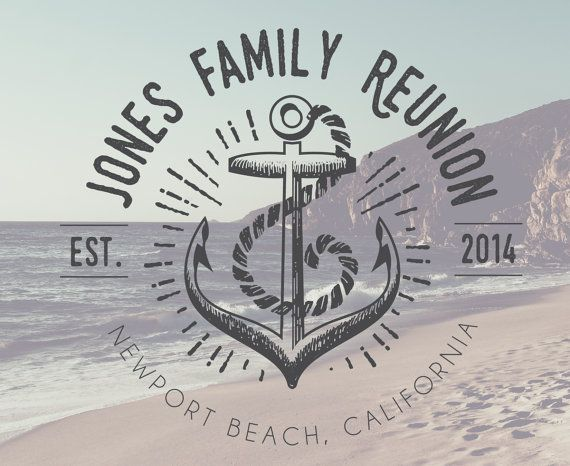 Anchor Family Reunion T-Shirt Logo  DIGITAL FILE by BAJDESIGNS