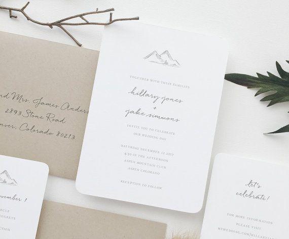 Hochzeitseinladung EINLADUNG BEISPIEL von augustandwhitedesign