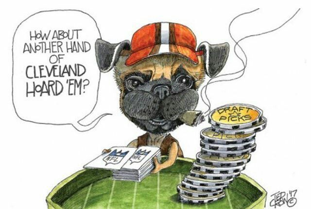 The Browns seem to want all of the chips possible as they look to cash in for some winning seasons in the future. // 🖌➡️ Ted Crow, The Plain Dealer // Browns NFL Cleveland