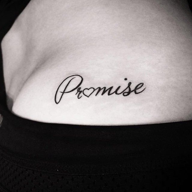 promise tattoo on shoulder
