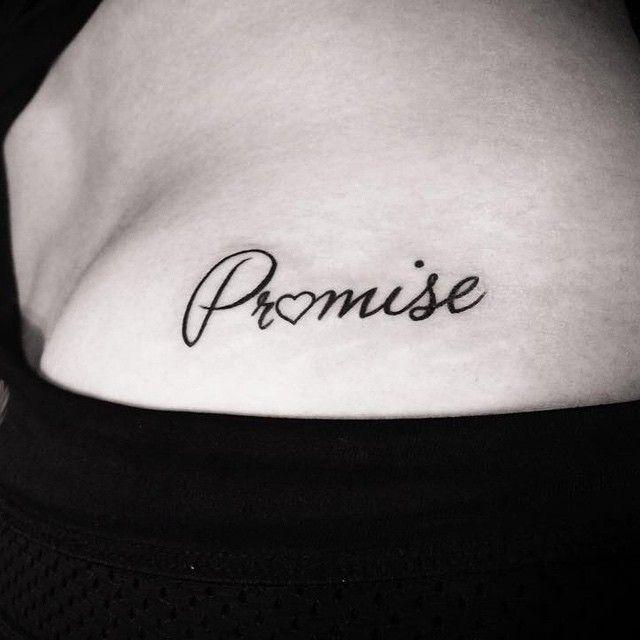 promise tattoo on shoulder