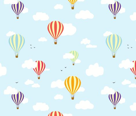 Hot Air Balloons fabric - nobleandable - Spoonflower
