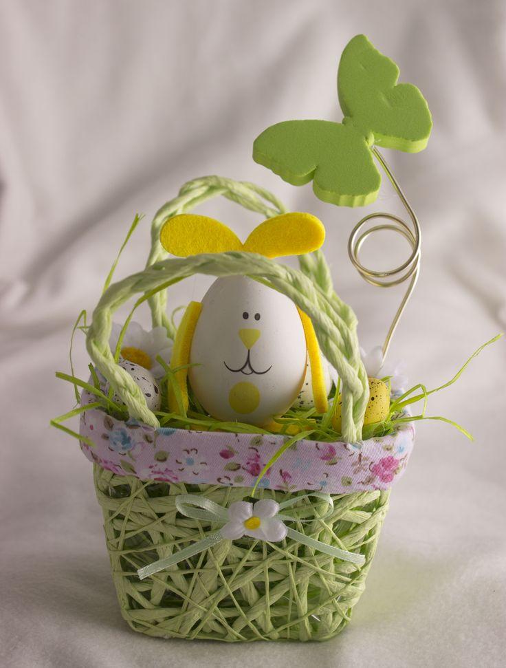Húsvéti füles kiskosár (zöld)
