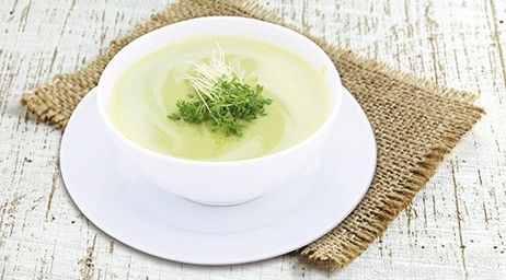PERKY CRESS 1 Soup = 242 Kcal  Ingredients: 1 bag of COMPLETE VEGETABLE SOUP 300 ml skimmed milk (0,1 %) 1 small kohlrabi (100 g) 1-2 tablespoons of cress (chopped) Pepper to taste Notice: Alternatively you can also use fresh dill or marjoram.   Preparation:  Dice the kohlrabi and cook it in the milk. Take out part of the kohlrabi dices, puree the remaining part together with the milk. Stir in 1 bag of Vegetable Soup, add the kohlrabi dices again as well as the cress.