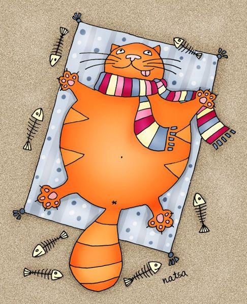 Утро уважаемая, толстый кот смешные рисунки