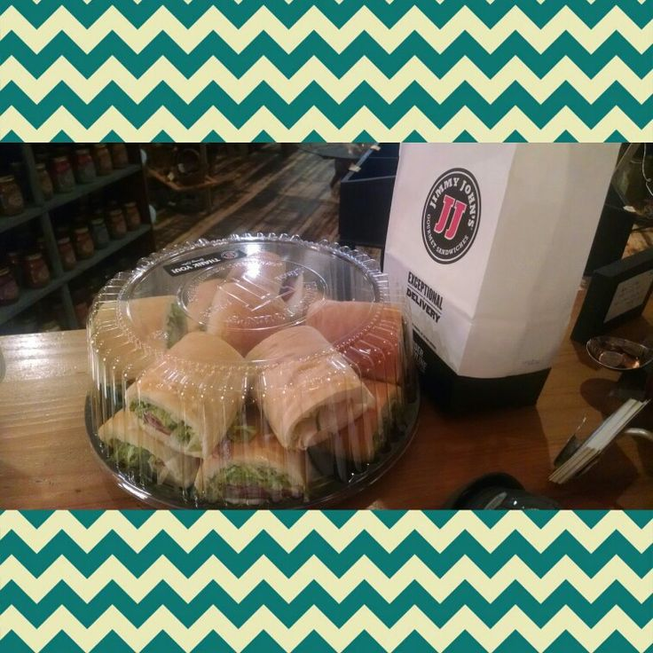 Thank you so much, Jimmy Johns, for surprising us today with a welcome platter :-)
