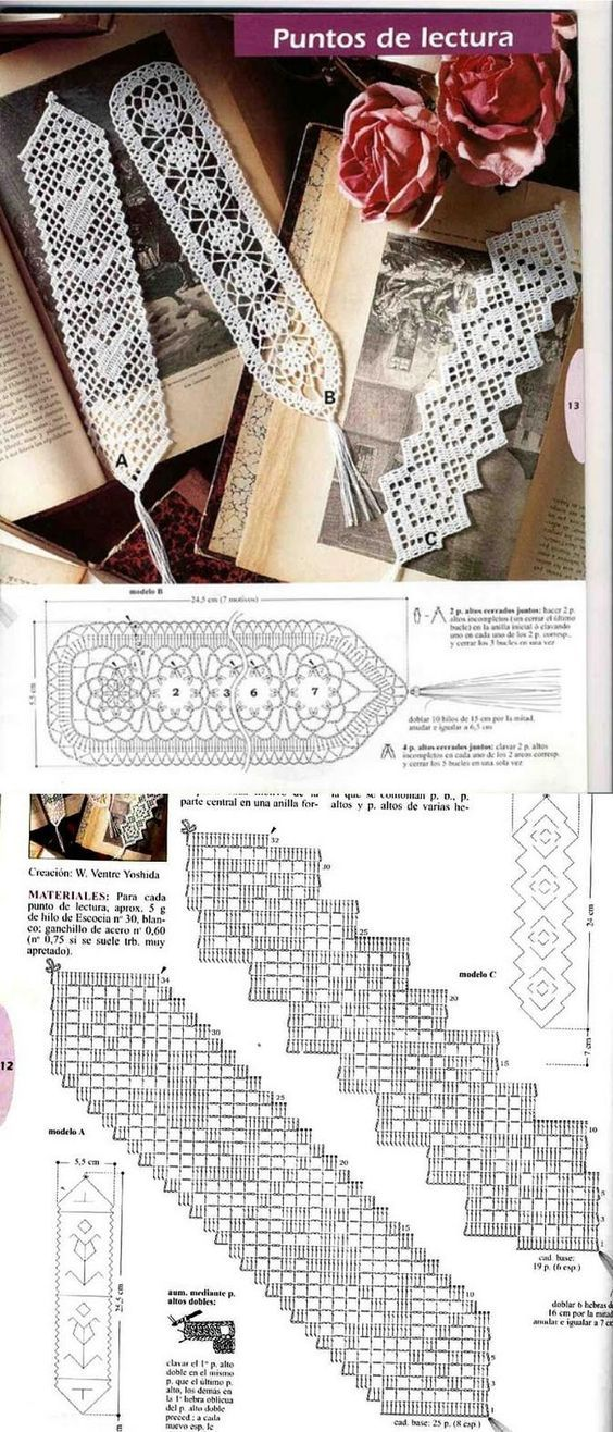 Free filet crochet bookmark patterns. I like the diagonal filet.: …