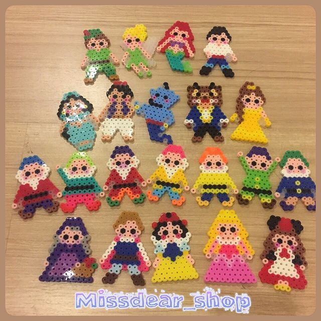 Disney characters perler beads by missdear_shop