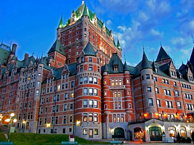 The Château Frontenac, is a grand hotel in Quebec City, Quebec, Canada
