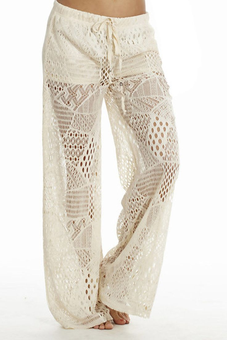 These are great for the Beach Wide Leg Crochet Pants | Home Goods Galore