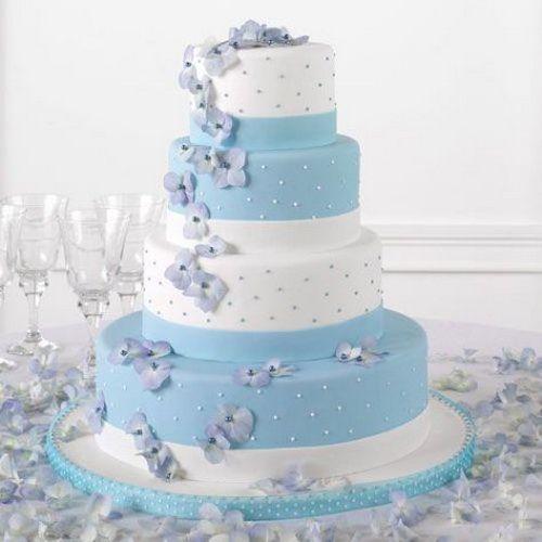 Light Blue Wedding Cakes Womenboard