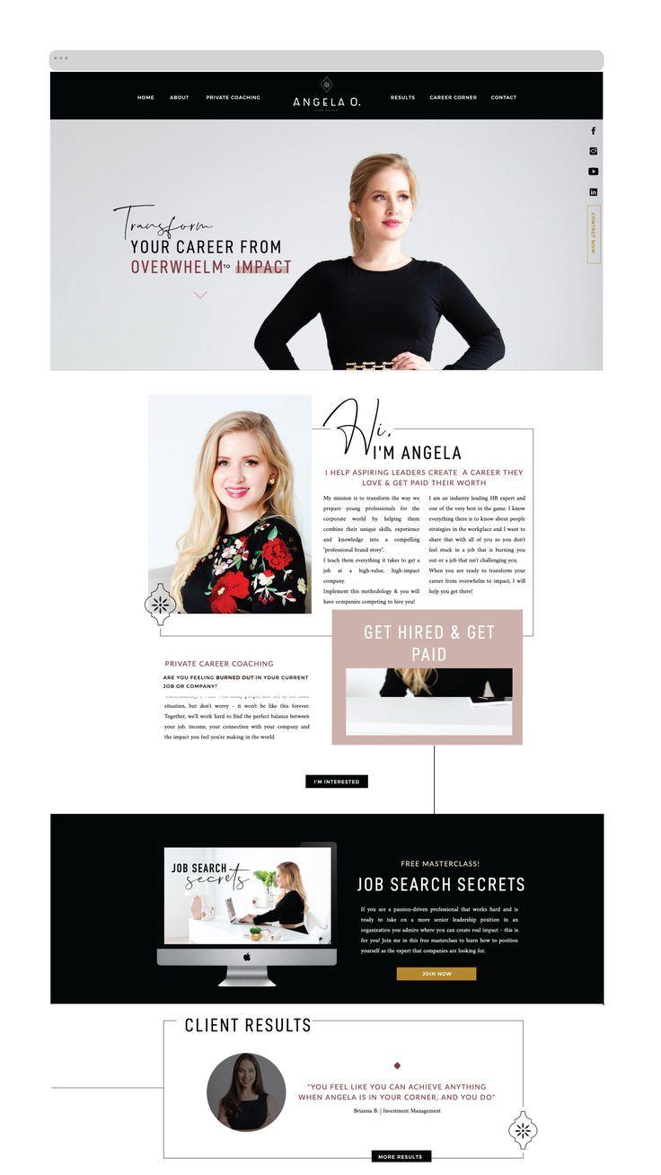 Business Coach Website Design Website Design Business Coach Logo Design