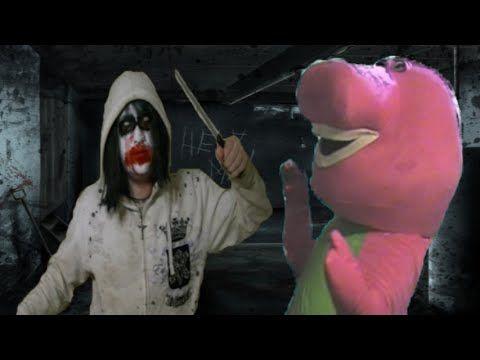 Jeff The Killer Vs Barney The Dinosaur - YouTube