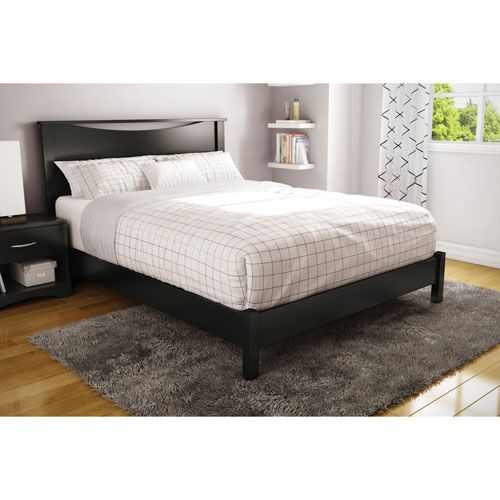 Best Step One Contemporary Platform Bed Queen Pure Black In 400 x 300
