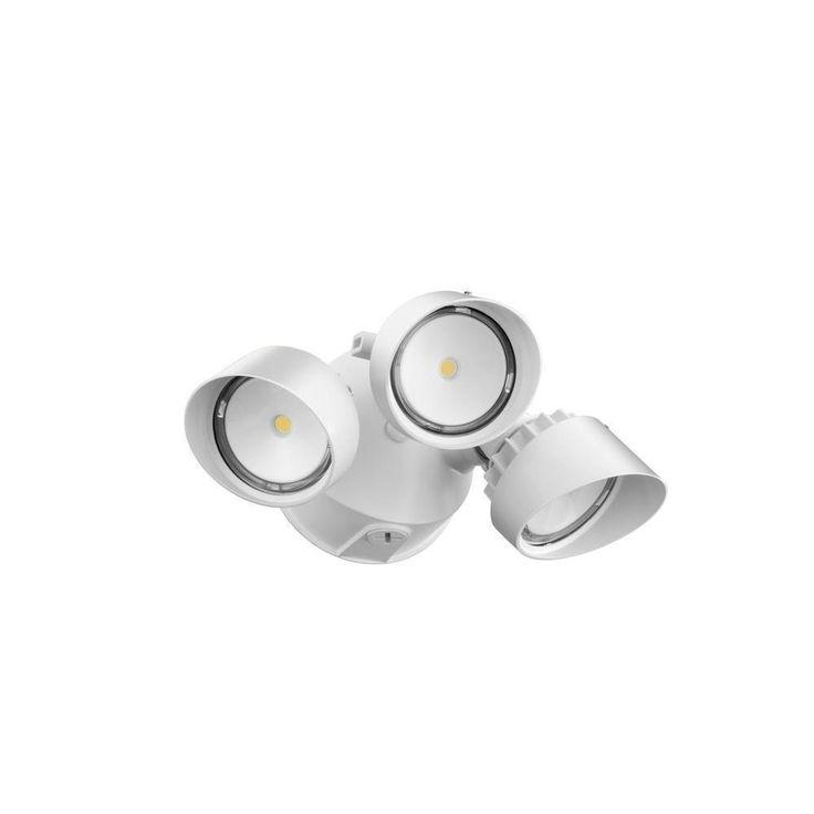 Lithonia Lighting OLF 3RH 40K 120 WH M4 White Aluminum Outdoor LED 3-head Round Flood Light (OLF 3RH 40K 120 WH M5)