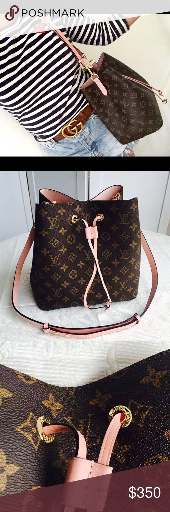 LV Neo Noe Pink Beautiful inspired LV Neo Noe Bag, leather, dust bag included  must have & will loveanswer is No! High end materials  Louis Vuitton Bags Shoulder Bags