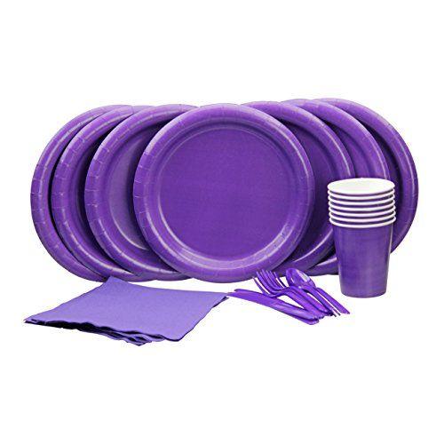 Lovely Purple Party Set! Includes Purple Dinner Plates, C... https://www.amazon.com/dp/B01AWUK96C/ref=cm_sw_r_pi_dp_x_F-p9xbZPC5D5F